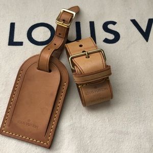 Louis Vuitton Accessories - Louis Vuitton Large ID Luggage Tag and Strap Set
